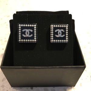 Unique Chanel Square Earrings